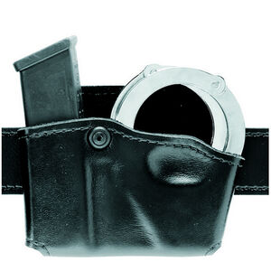 Safariland Model 573 Open Top Magazine and Handcuff Pouch Right Hand Fits S&W M&P 45 STX Hardshell Plain Black