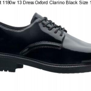 Original S.W.A.T. Dress Oxford Men's Shoe Size 11.5 Wide Clarino Synthetic Upper Black 118001W-115