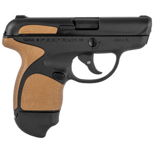 "Taurus Spectrum Semi Auto Pistol .380 ACP 2.8"" Barrel 6/7 Round Magazines Low Profile Fixed Sights Polymer Frame Matte Black/Burnt Bronze Accents"
