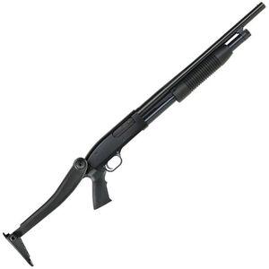 """Mossberg Maverick 88 Security Pump Action Shotgun 12 Gauge 18.5"""" Barrel 3"""" Chamber 5 Rounds Bead Sight ATI Shotforce Folding Stock Black"""