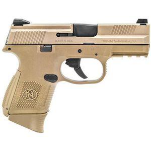 "FNH FNS-9C Semi Auto Pistol 9mm 3.6"" Barrel 12/17 Rounds Polymer Frame Flat Dark Earth"