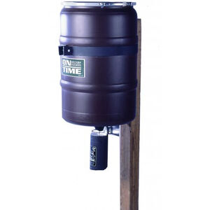On Time Elite Lifetime Fish Feeder Combo 150 lb Capacity Post Mount Polymer