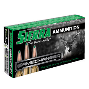 Sierra GameChanger 6mm Creedmoor Ammunition 20 Rounds 100 Grain Tipped GameKing