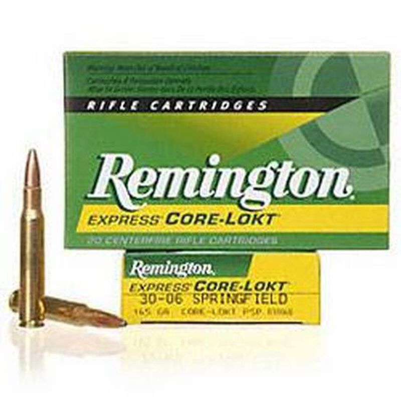 Remington Express .30-06 Springfield Ammunition 20 Rounds 165 Grain Core-Lokt PSP Soft Point Projectile 2800fps