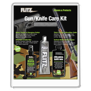 FLITZ Knife & Gun Care Kit Polish, Cleaner, Wax, and Microfiber Cloth