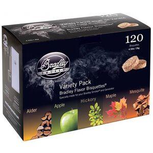 Bradley Smoker Bisquettes Five Flavor Variety 120 Pack BT5FV120