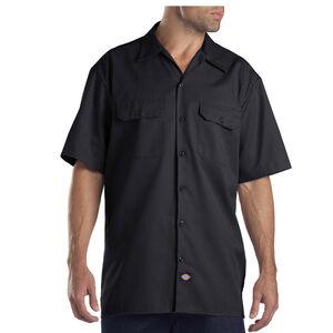 Dickies Men's Twill Work Shirt 4 Extra Large Regular Black 1574BK