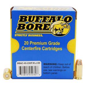 Buffalo Bore .45 ACP +P 230 Grain FMJFN 20 Round Box