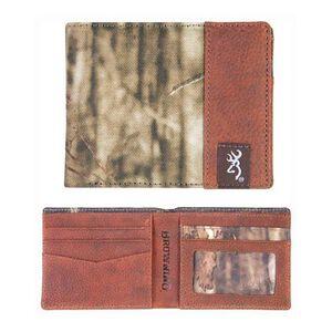 Browning Buckmark Logo Men's Mossy Oak Infinity Bi-Fold Wallet Leather BGT1173