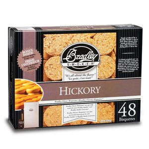 Bradley Smoker Wood Bisquettes Hickory Flavor 24-Pack BTHC24
