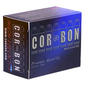 CorBon Defense .38 Super+P 125 Grain JHP 20 Round Box