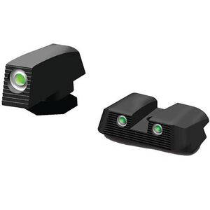 HiViz NiteSite Low Profile Tritium 3-Dot Night Sight Set Green Tritium GLOCK 20/21/29/30 Steel Blued Finish