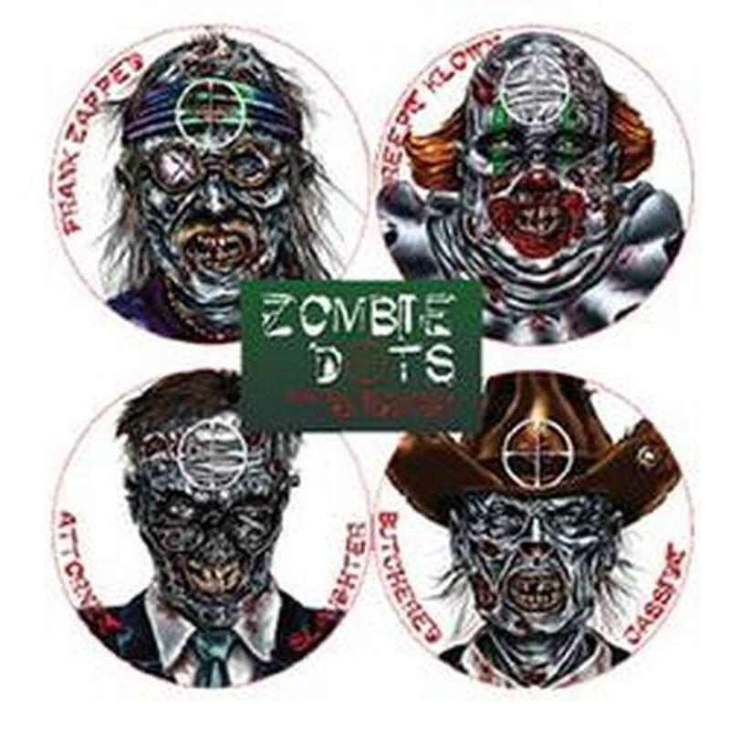 Pachmayr Zombie Target Variety Pack Peel and Stick 12 Pack 4026308