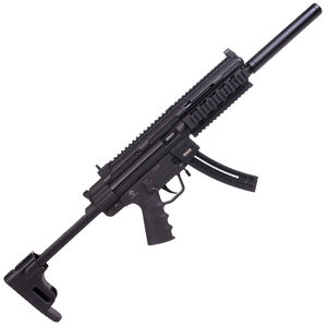 """American Tactical Imports GSG-16 Carbine .22 LR Semi Auto Rifle 16.25"""" Barrel 22 Rounds Faux Suppressor M-LOK Handguard with Picatinny Rails Collapsible Stock Black"""