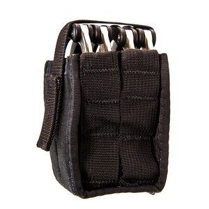 High Speed Gear Duty Double Handcuff TACO Belt/MOLLE Mount Cordura Black