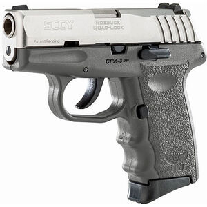 "SCCY CPX-3 .380 ACP Semi Auto Pistol 2.96"" Barrel 10 Rounds No Safety Sniper Gray Polymer Frame with Stainless Slide Finish"