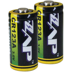 ZAP Lithium CR123A Batteries 2 Pack