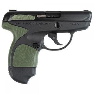"Taurus Spectrum Semi Auto Pistol .380 ACP 2.8"" Barrel 6/7 Round Magazines Low Profile Fixed Sights Black Slide/Polymer Frame Black/OD Green Accents"