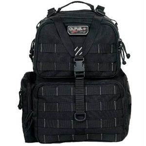 G Outdoors Tactical Range Backpack Waist Strap Nylon Black GPS-T1612BPB