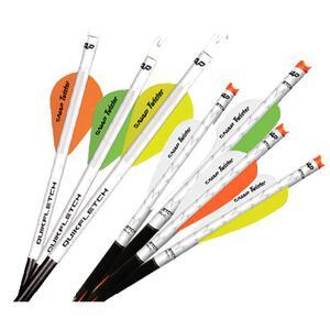 "New Archery Products QuikFletch Twister 2"" White/Green 6 Pack"