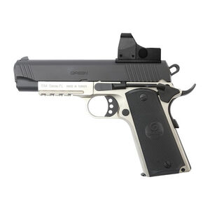 "EAA GiRSAN MC1911C Commander Model .45 ACP Semi Auto Pistol 4.4"" Barrel 8 Rounds Red Dot Optic Ambidextrous Safety Two Tone Finish"