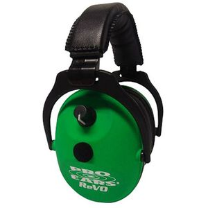 Pro Ears ReVO Electronic Ear Muffs Neon Green ER300NG