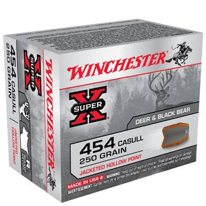 Winchester Super X .454 Casull Ammunition 20 Rounds, JHP, 250 Grain