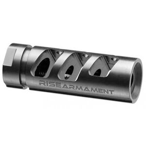 Rise Armament RA-701 Compensator AR Style .308 Winchester/7.62 NATO Threaded 5/8x24 Made From 416 Stainless Steel Black Nitride Finish