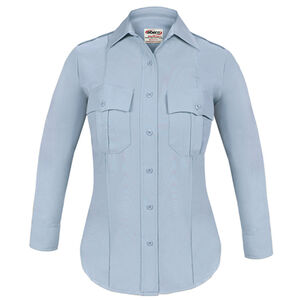 Elbeco TEXTROP2 Women's Long Sleeve Shirt Size 34 100% Polyester Tropical Weave Blue