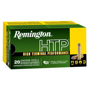 Remington HTP .38 Special +P Ammunition 20 Rounds 125 Grain SJHP 945 fps
