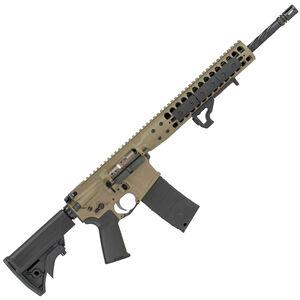"LWRC IC DI AR-15 5.56 NATO Semi Auto Rifle 16.1"" Barrel 30 Rounds Free Float Rail System Collapsible Stock Flat Dark Earth Finish"