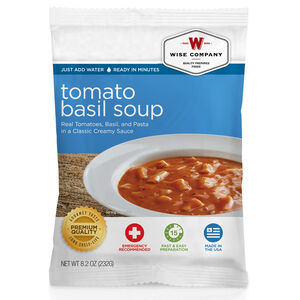 Wise Company Freeze Dried Side Dish Tomato Basil Soup with Pasta 4 Servings