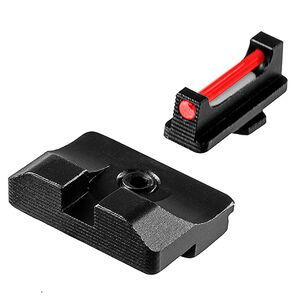TruGlo Brite-Site Fiber Optic Pro Sight Set for GLOCK 10mm/.357 SIG/.45 GAP and ACP Models 1 Dot Sights CNC Machined Steel Housing Matte Black Finish