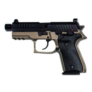 """AREX Rex Zero 1TC Compact Tactical 9mm Luger Semi Auto Pistol 4.9"""" Barrel Length 17 Rounds Fixed Sights Picatinny Rail Ambidextrous Safety/Magazine Release FDE"""