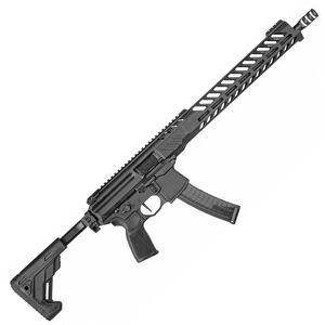 "SIG Sauer MPX PCC 9mm Luger Semi Auto Rifle 16"" Barrel 30 Rounds Free Float Slim Line M-LOK Hand Guard Folding/Telescoping Stock Matte Black"