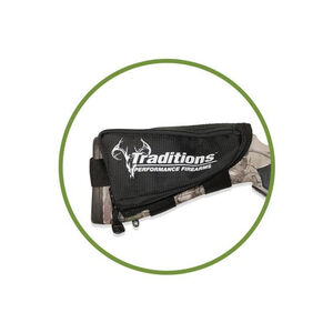 Traditions Rifle Stock Pack Break Open Muzzle Loaders Check Rest Pouch Black