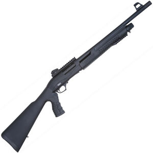 "TriStar Cobra II Force Pump Action Shotgun 12 Gauge 18.5"" Barrel 3"" Chamber 5 Rounds Ghost Ring Sights Pistol Grip Stock Black"