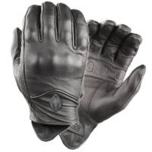 Damascus Protective Gear All Leather Gloves With Knuckle Armor Two Extra Large Black