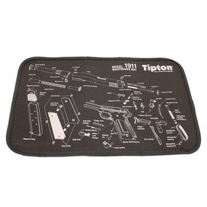"""Tipton Maintenance Mat 1911 Gun Cleaning Pad 11"""" x 17"""" Black 558680"""