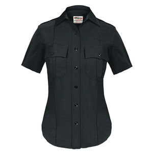 Elbeco TEXTROP2 Women's Short Sleeve Shirt Size 34 100% Polyester Tropical Weave Midnight Navy