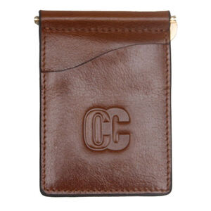 Concealed Carrie Men's Money Clip Aged Brown Leather