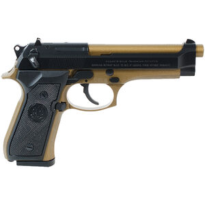 "Beretta 92FS 9mm Luger Semi Auto Pistol 4.9"" Barrel 15 Rounds Two Tone Blued/Bronze Finish"