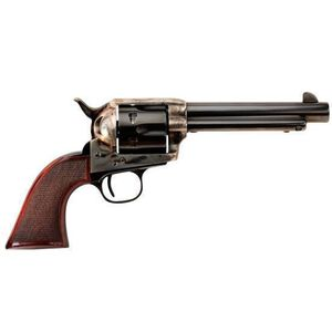 """Taylor's and Company """"The Smoke Wagon"""" Deluxe Edition Single Action Revolver .357 Magnum 5.5"""" Barrel 6 Rounds Checkered Walnut Grip Case Hardened Blue Finish 4108.DE"""