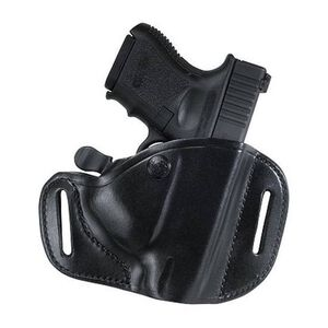 Bianchi #82 CarryLok Kimber Ultra Carry II Belt Slide Retention Holster Right Hand Leather Plain Black 23286
