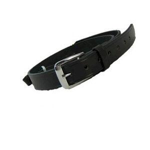 "Boston Leather Sam Browne Shoulder Strap with D-rings 1.25""  Regular Nickel Snaps Plain Black 6511-1-N"