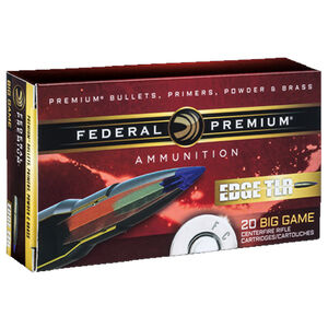 Federal Edge TLR .308 Winchester Ammunition 20 Rounds 175 Grain Edge TLR Bonded Projectile 2600fps