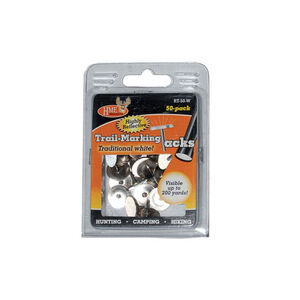 HME Products Metal Reflective Tacks, Pack of 50, White, RT-50-W