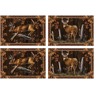 """River's Edge Products Deer 4 Piece Placement Set 18""""x12"""" 1660"""
