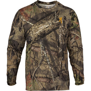 Browning Wasatch-CB Mens Camo T-Shirt 3X-Large Long Sleeve Regular Fit Cotton MOBUC
