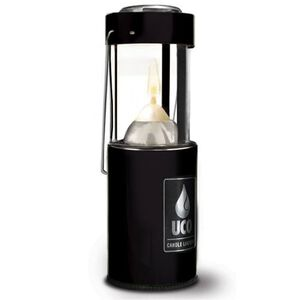 Industrial Revolution Original Candle Lantern Aluminum Black with Carry Handle L-AN-STD-BLK